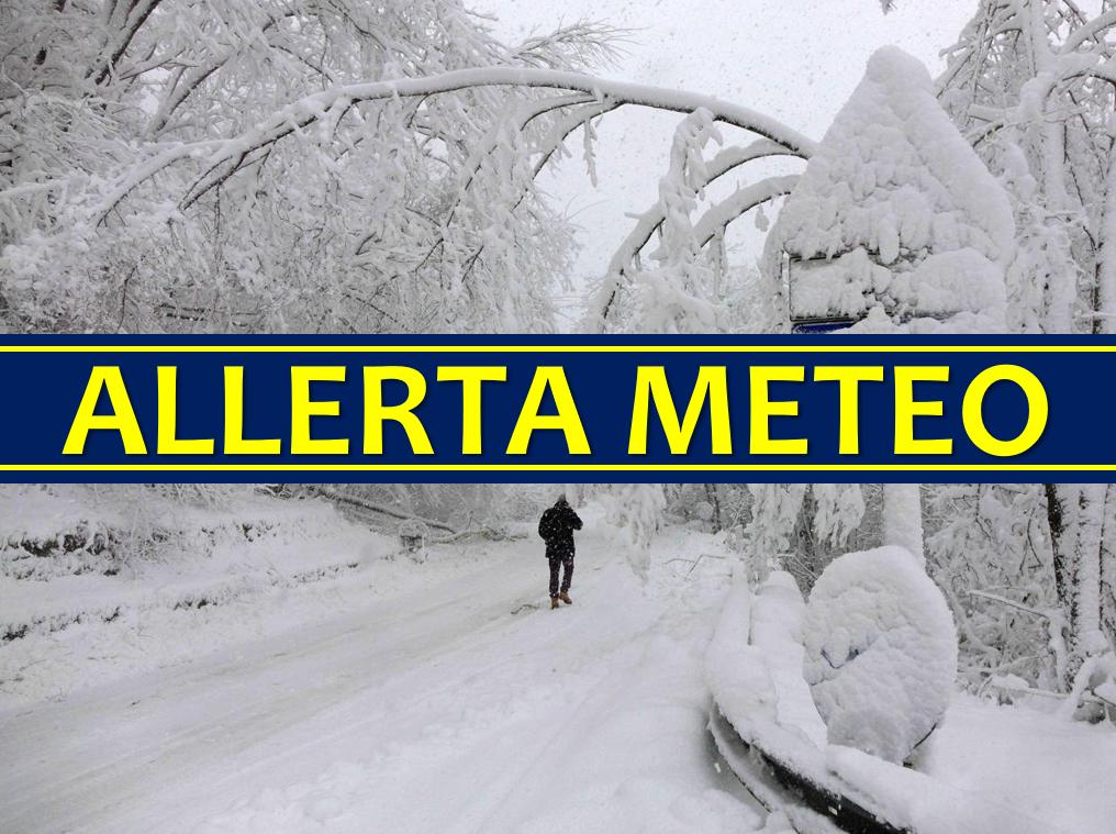 allerta meteo neve italia febbraio 2018