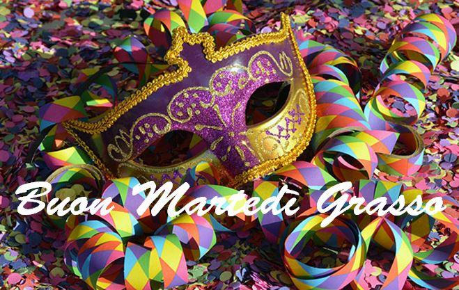 Buon Martedì grasso 2018 carnevale auguri