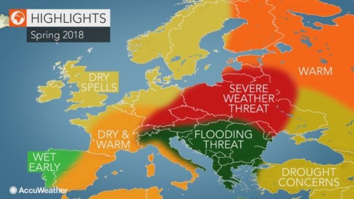 previsioni meteo primavera europa