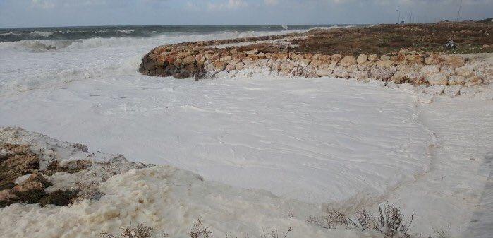 spiaggia schiuma libano