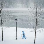 """Mosca sommersa dalla """"nevicata del secolo"""", battuto il record del 1957: un morto, incidenti, blackout e voli cancellati [GALLERY]"""