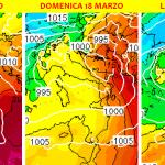 """Previsioni Meteo, grosso evento sull'Italia tra 17 e 19 Marzo: indizi di una grande """"Tempesta di San Giuseppe"""" [MAPPE]"""