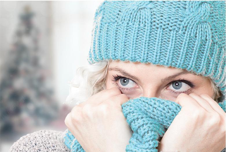 freddo sciarpa tubi gelati