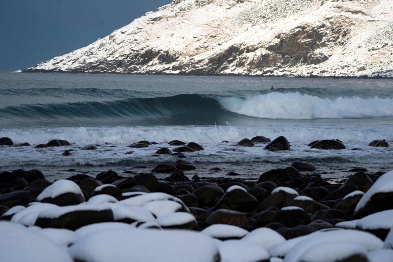 Norvegia surf Circolo Polare Artico