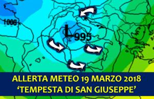 allerta meteo tempesta di san giuseppe