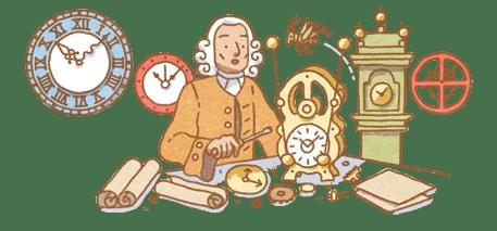 John Harrison doodle google