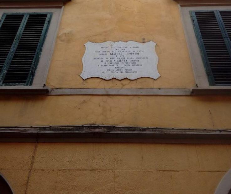 casa Giacomo Leopardi Pisa