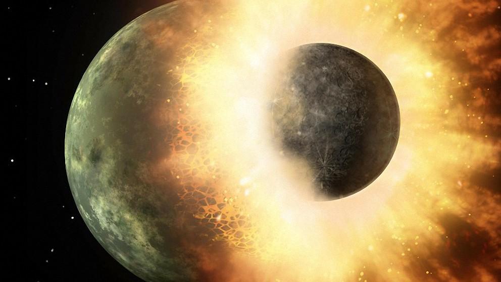 collisione luna pianeta