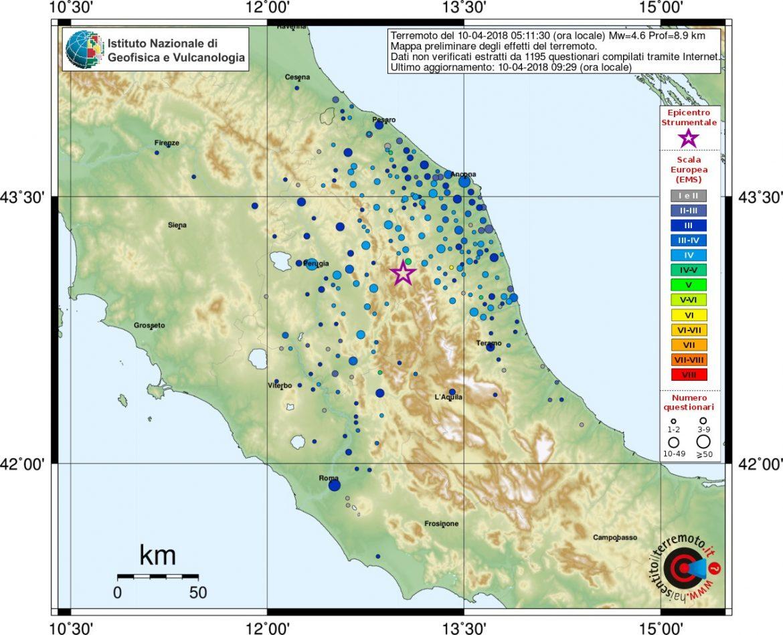 terremoto centro Italia Macerata Muccia