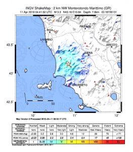 terremoto monterotondo grosseto