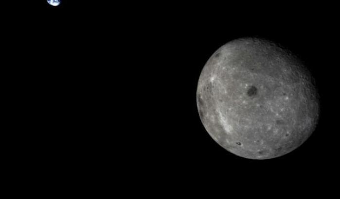 Il lato nascosto della Luna, ripreso da Chang'e-5 T1 nel 2014
