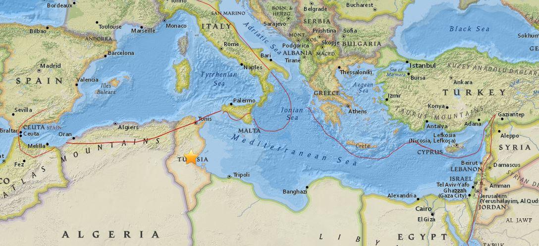 Terremoto Tunisia