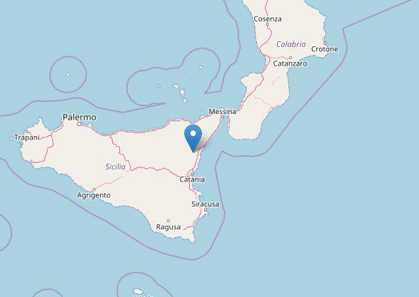 Terremoti Catania |  sciame sismico sull'Etna |  scosse tra Milo e Sant'Alfio DATI e MAPPE
