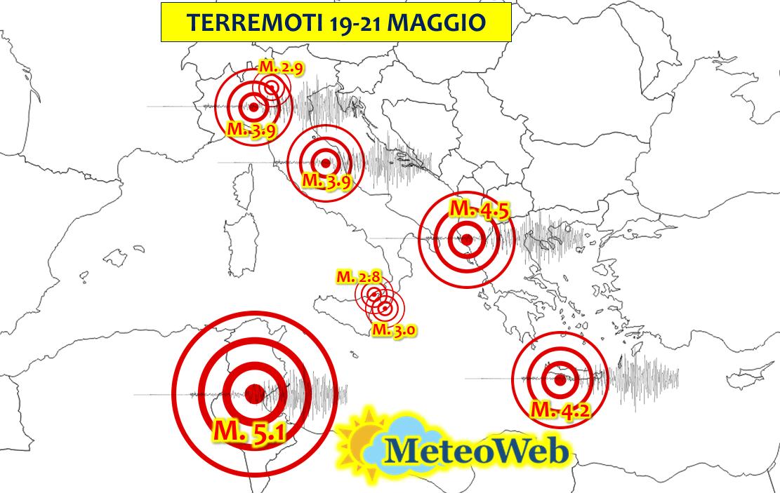 terremoto oggi italia europa