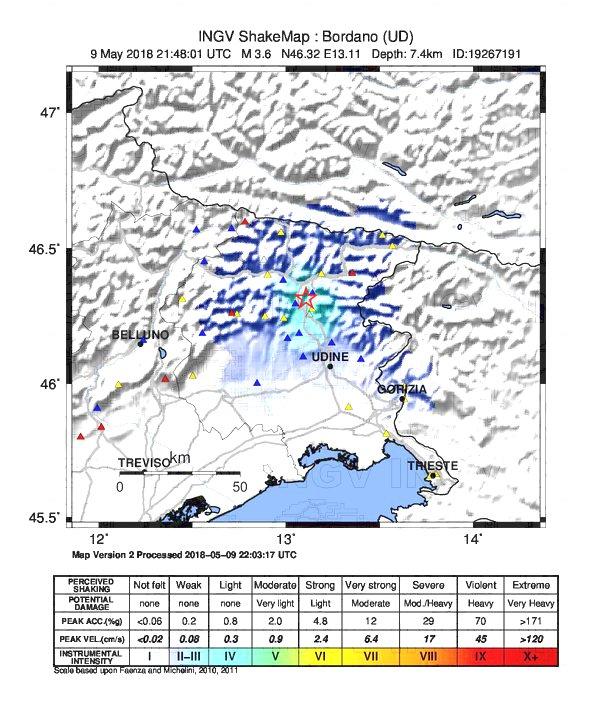 terremoto udine