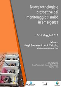 """A Pisa il workshop sulle """"Nuove tecnologie e prospettive del monitoraggio sismico in"""