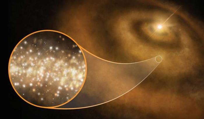 Nanodiamanti nel disco protoplanetario