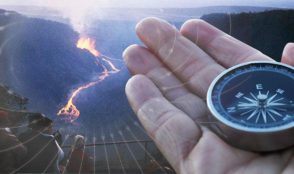 campo magnetico vulcano kilauea