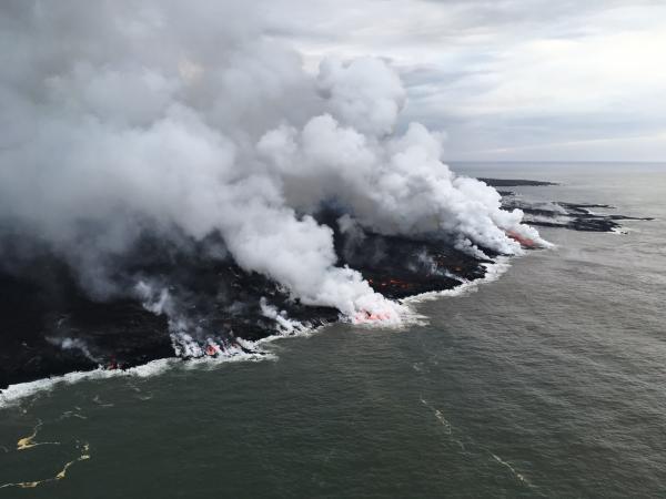 Vulcano Kilauea |  112 milioni di metri cubi di lava eruttati finora mentre esplosioni e