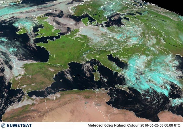 Le immagini dal satellite stamattina