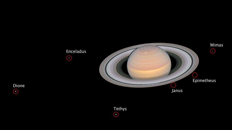 lune saturno hubble