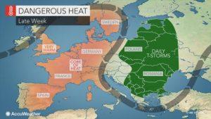 ondata calore europa occidentale
