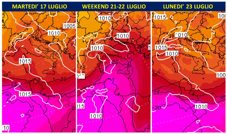 previsioni meteo italia luglio 2018
