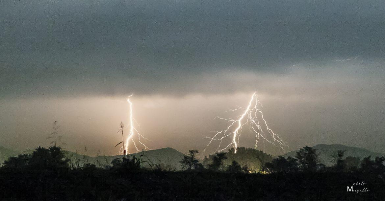 fulmini pioggia Piacenza