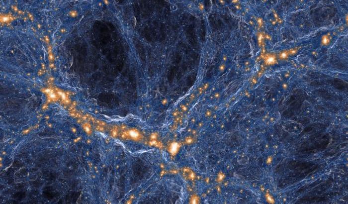 Simulazione informatica di una regione di Universo (TNG Collaboration)