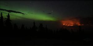 aurora boreale incendio canada