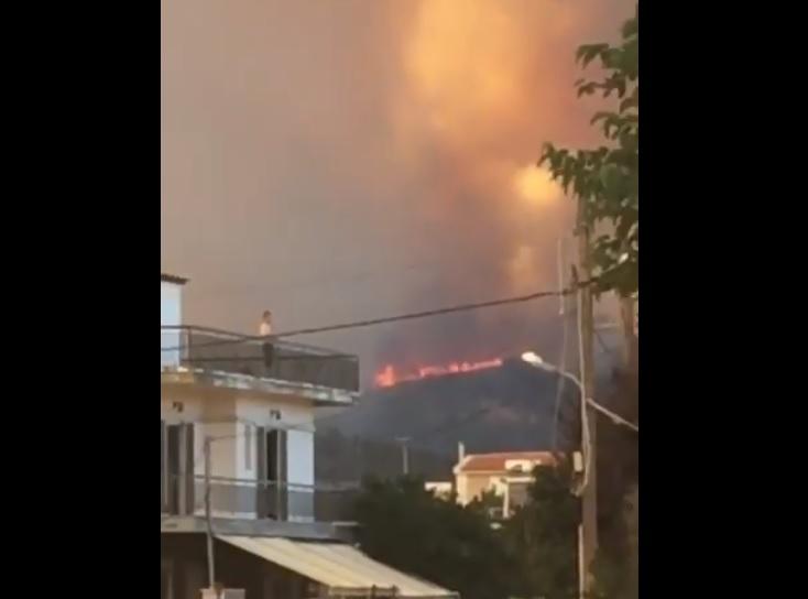 incendio evia eubea grecia