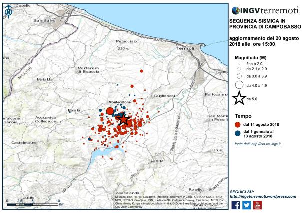sismicità molise