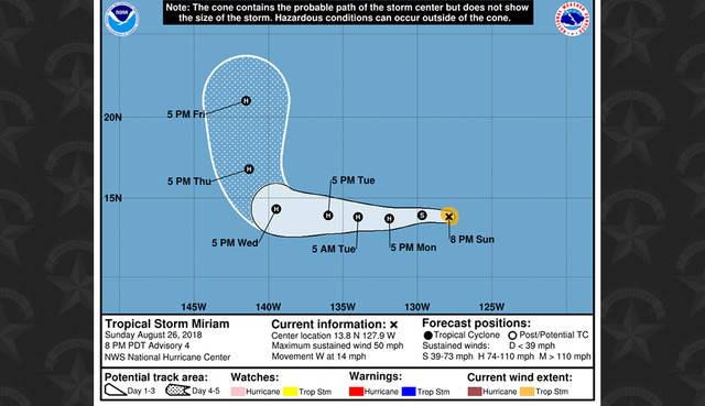 tempesta tropicale miriam