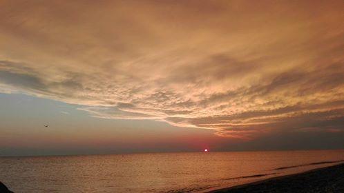 tramonto di Marina di Nocera Terinese, in Calabria