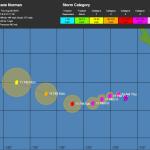 Oceano Pacifico, 3 sistemi tropicali attivi: gli uragani Norman e Miriam e il super tifone Jebi [MAPPE e DETTAGLI]
