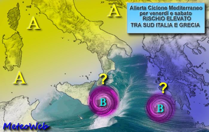 Allerta Meteo Ciclone Mediterraneo 28 Settembre