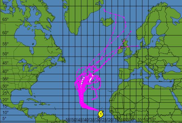 La traiettoria dell'Uragano Helene nei prossimi giorni