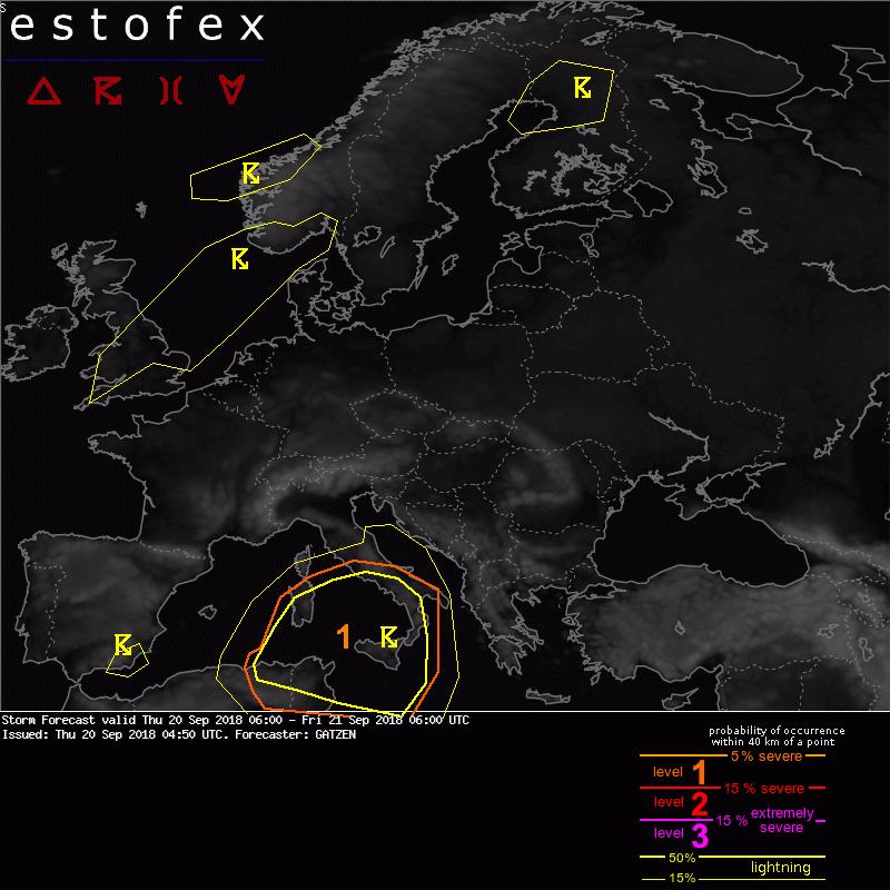 allerta meteo estofex uragano mediterraneo