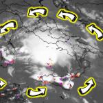 """Allerta Meteo, nel mar Tirreno sta nascendo il Ciclone Mediterraneo che rischia di diventare un terribile """"Medicane"""": le MAPPE in diretta"""