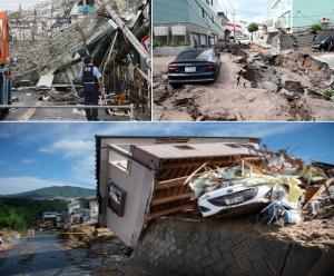 alluvioni terremoti tifoni giappone