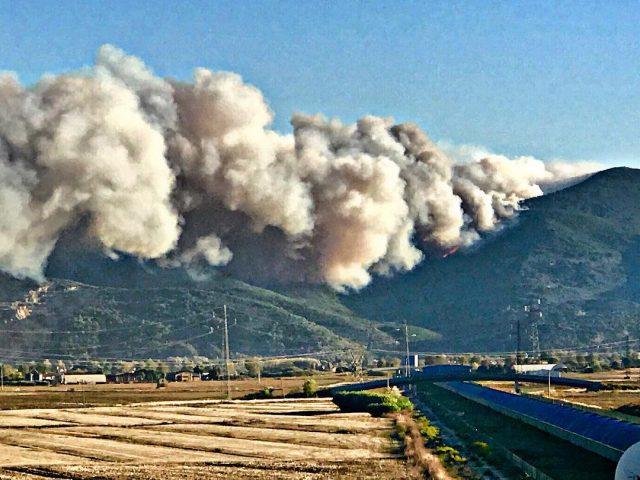 incendio monte serra