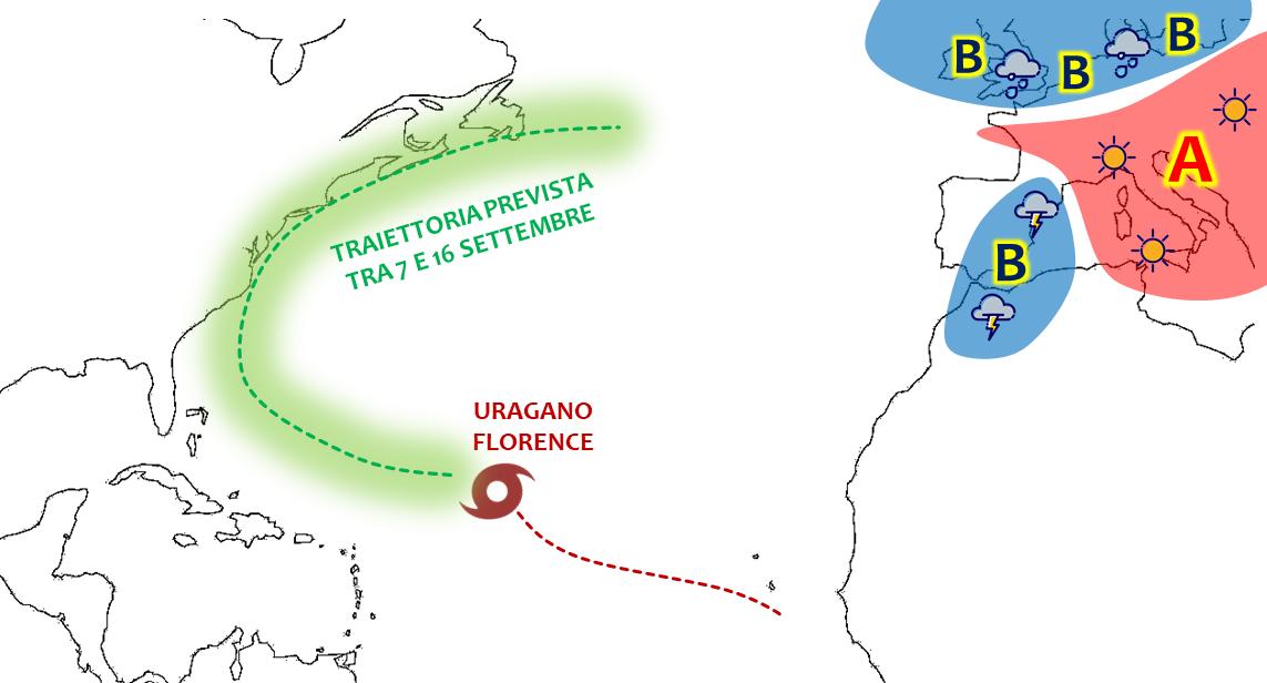 previsioni meteo uragano florence