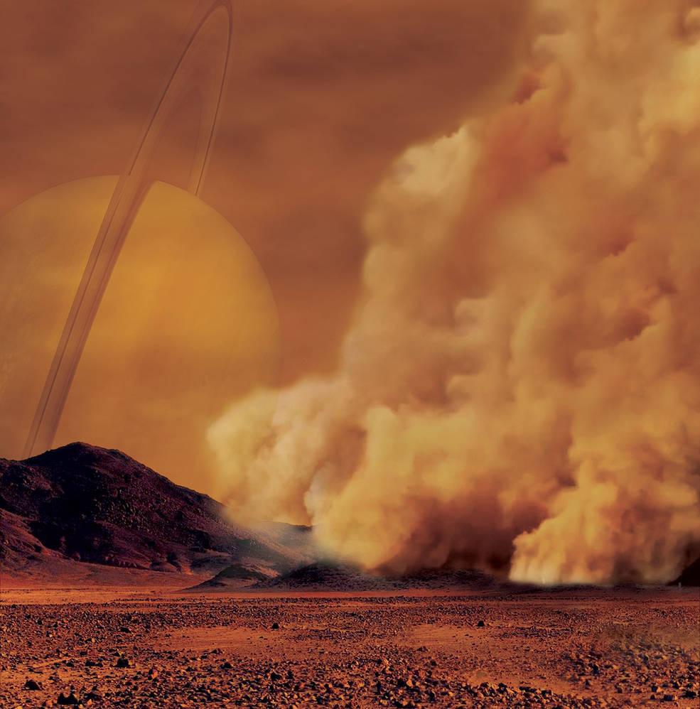 tempesta sabbia Titano