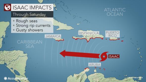 tempesta tropicale isaac