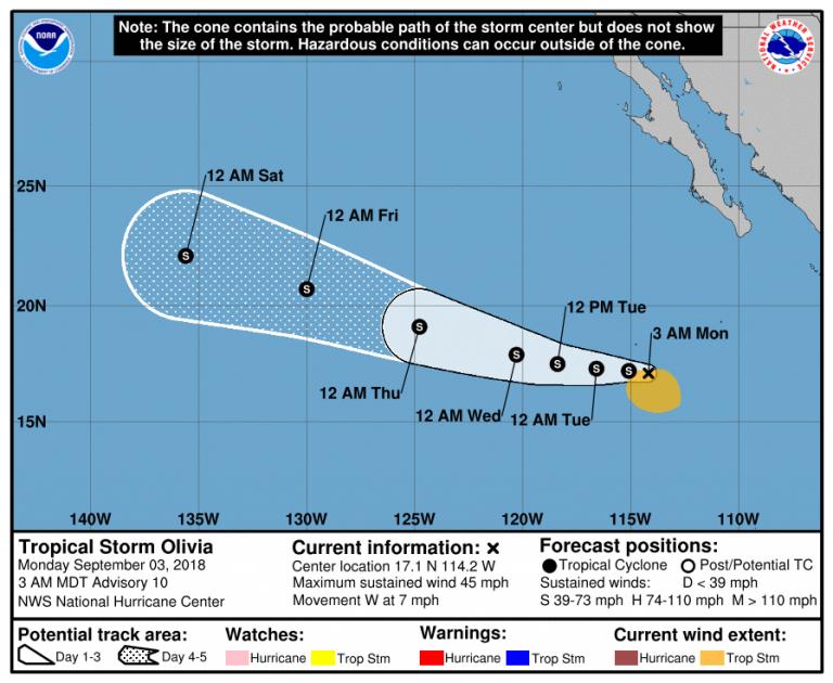 Tempesta Tropicale Olivia