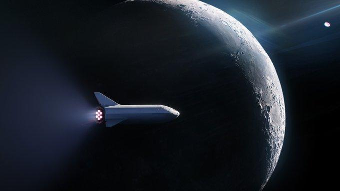 turista viaggio luna spacex