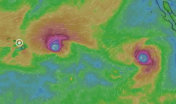 uragani norman olivia hawaii