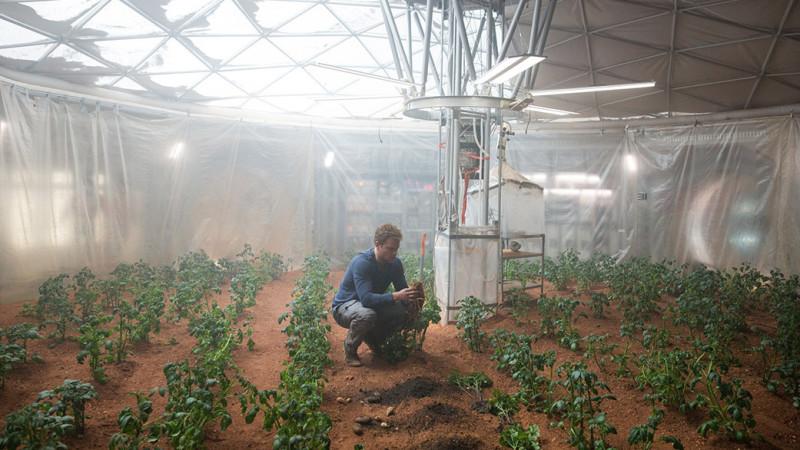Matt Damon The Martian piante coltivazione spazio