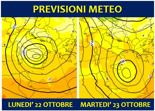 previsioni meteo 22 23 ottobre