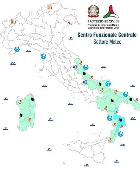 Dinuovo maltempo in arrivo sulla Calabria. Allerta arancione su tutto il territorio